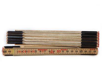 Billede af Hultafors tommestok, træ, 59-2-12