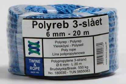 Billede af Polyreb blå 6 mm x 20 mtr