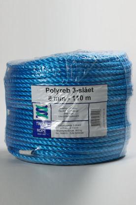 Billede af Polyreb blå 8 mm x 110 mtr