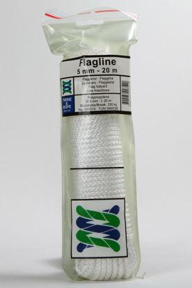 Billede af Flagline PP hvid 5 mm x 20 mtr