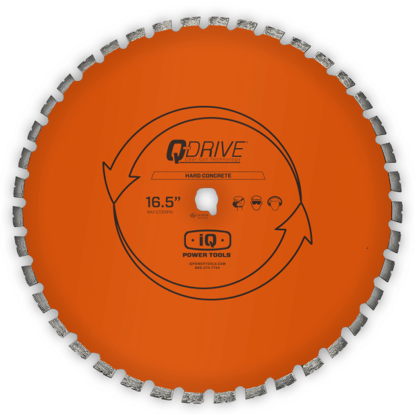 """Billede af IQ Powertools Q-Drive Diamantklinge 16,5""""/420mm Hård Beton"""