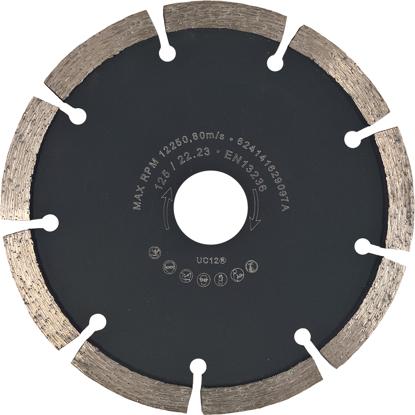Billede af Fugefræseklinge 125 mm, 6 mm (Bløde materialer/Mørtel)