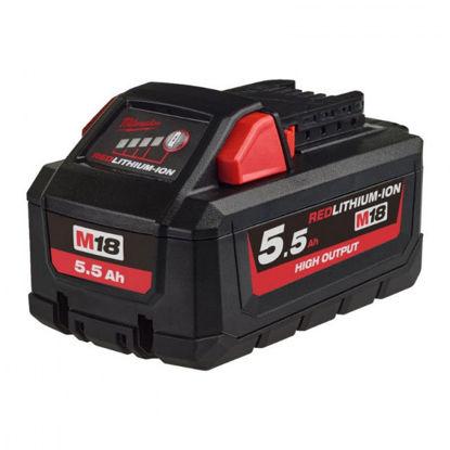 Billede af Milwaukee Batteri M18 HB5.5 18V/5.5AH Li-ION