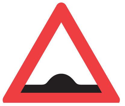 Billede af Advarselstavle A36 - Bump - 70 cm