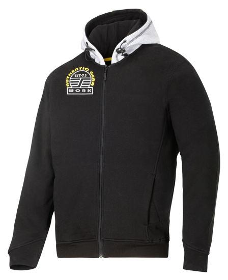 Billede af Snickers sweatshirt 2809 m/hætte sort/grå, XL (Udgået)