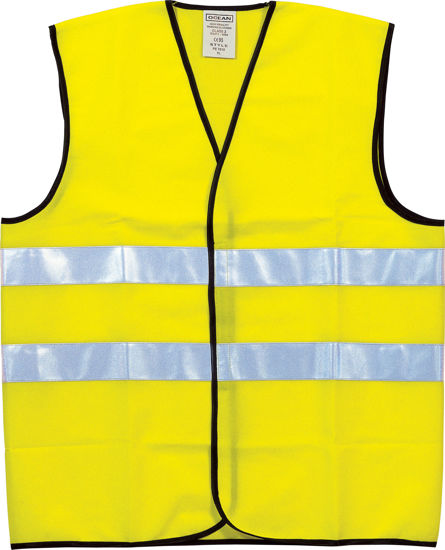 Billede af Sikkerhedsvest gul, klasse 2 str. L