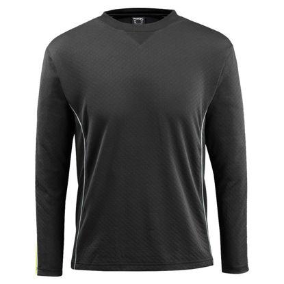Billede af Montilla t-shirt m/lange ærmer sort/hi-viz gul, str. XL