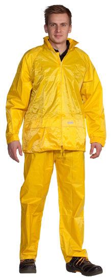 Billede af Regnsæt nylon gul - str. XL