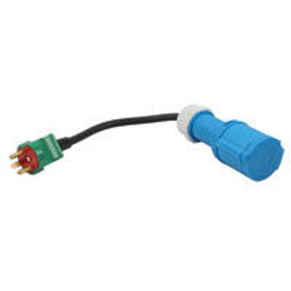 Billede af Adapterkabel CEE/mellemled - 230V/han