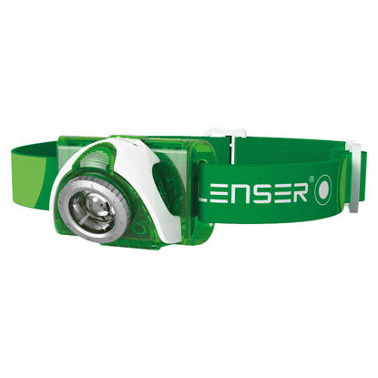 Billede af Pandelampe Led Lenser SEO3 grøn