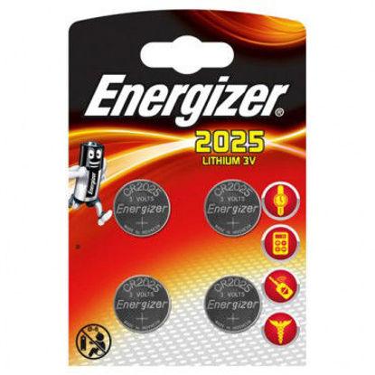 Billede af Batteri CR2025 lithium - 4 stk