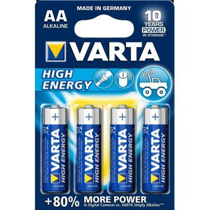Billede af Batteri AA, Alkaline, pk. á 4 stk.