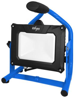 Billede af Blue Electric Multi HYBRID LED Arbejdslampe - 20 W (passer batterier fra DeWalt + Milwaukee + Metabo)
