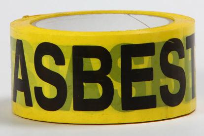 Billede af Advarselstape Asbest gul/sort