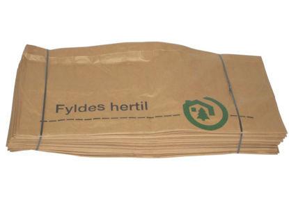 Billede af Renovationssæk brun papir 70x95x25 cm