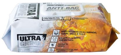 Billede af Uniwipe UltraGrime antibakteriel Industri Wipes, 38 x 25 cm, 100 stk/pk