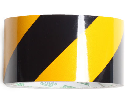 Billede af Reflekstape gul/sort 50 mm x 5 mtr.