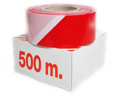 Billede af Afspærringsfolie 500 mtr. rød/hvid