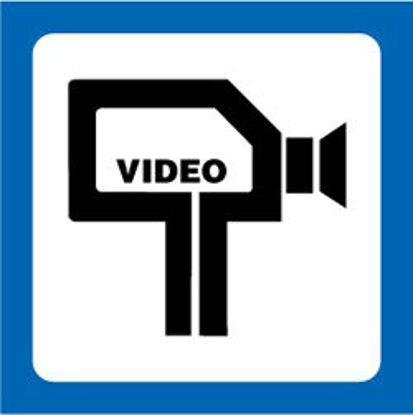 """Billede af Skilt """"Området er Videoovervåget"""""""