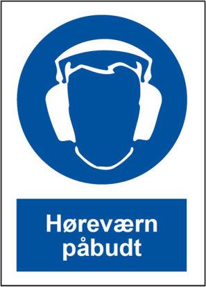 Billede af Skilt P204 Høreværn påbudt A4