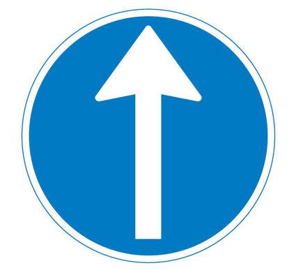 Billede af Påbudstavle D11.1 Påbudt kørselsretning