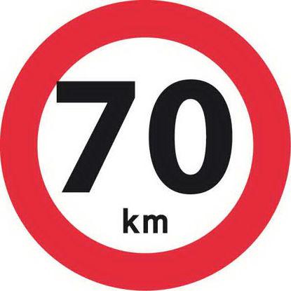 Billede af Forbudstavle C55 70 km