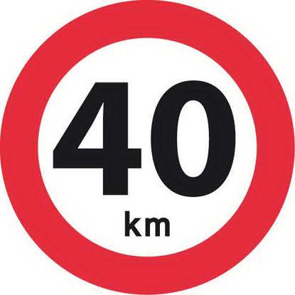 Billede af Forbudstavle C55 40 km