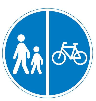Billede af Påbudstavle D26.2 Cykelsti/gangsti