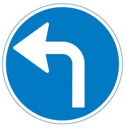 Billede af Påbudstavle D11.4 Påbudt kørselsretning - venstre