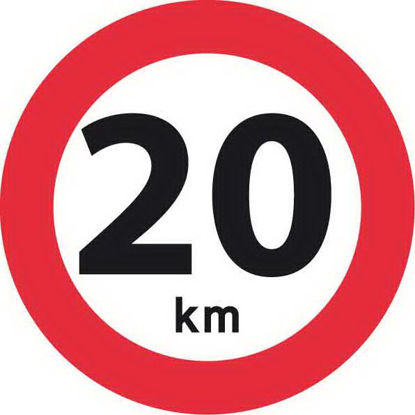 Billede af Forbudstavle C55 20 km