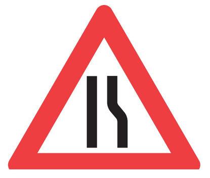 Billede af Advarselstavle A43.3 Indsn. vej. højre
