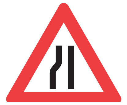 Billede af Advarselstavle A43.2 Indsn. vej, venstre