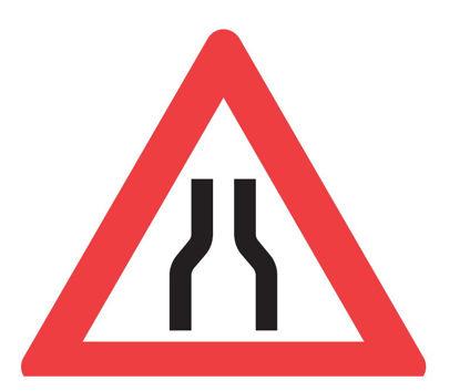 Billede af Advarselstavle A43.1 Indsnævret vej - 70