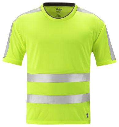 Billede af Snickers AllroundWork T-shirt 2530 - Gul High-Vis klasse 2, str. XL