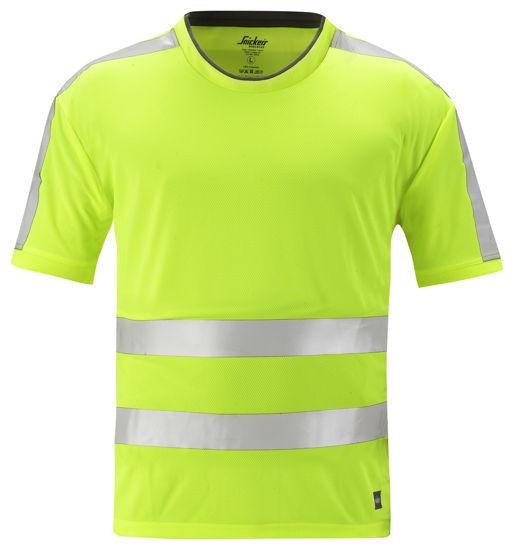 Billede af Snickers AllroundWork T-shirt 2530 - Gul High-Vis klasse 2, str. M